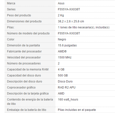 ¡Ofertaza para la vuelta al cole! ASUS F555YA-XX038T por sólo 229€ (Oferta Cupon Descuento)