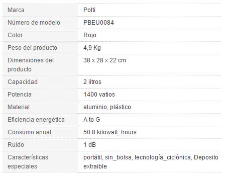 ¡OFERTA! Aspiradora Forzaspira C110 por 69€ (Oferta Cupon Descuento)