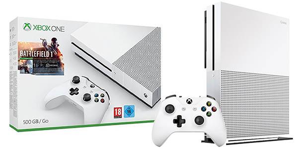 REGALAZO! Xbox One S 500GB + Battlefield 1 por 249€ (Oferta Cupon Descuento)
