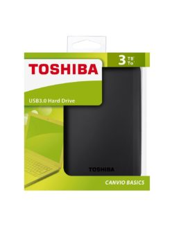 ¡CHOLLO! Disco Duro Externo 3TB Toshiba USB 3.0 por 99€ (Oferta Cupon Descuento)