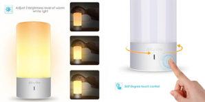 ¡ILUMINADO! Lámpara de mesa LED multicolor con control táctil por 24€