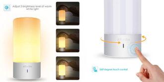 ¡ILUMINADO! Lámpara de mesa LED multicolor con control táctil por 24€ (Oferta Cupon Descuento)