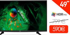 ¡TELON! Smart TV LG 49UH610V UHD 4K HDR PRO 49″ por 576€
