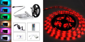 ¡ Chollo ! Tira de luces LED multicolor con control remoto por 13,99€