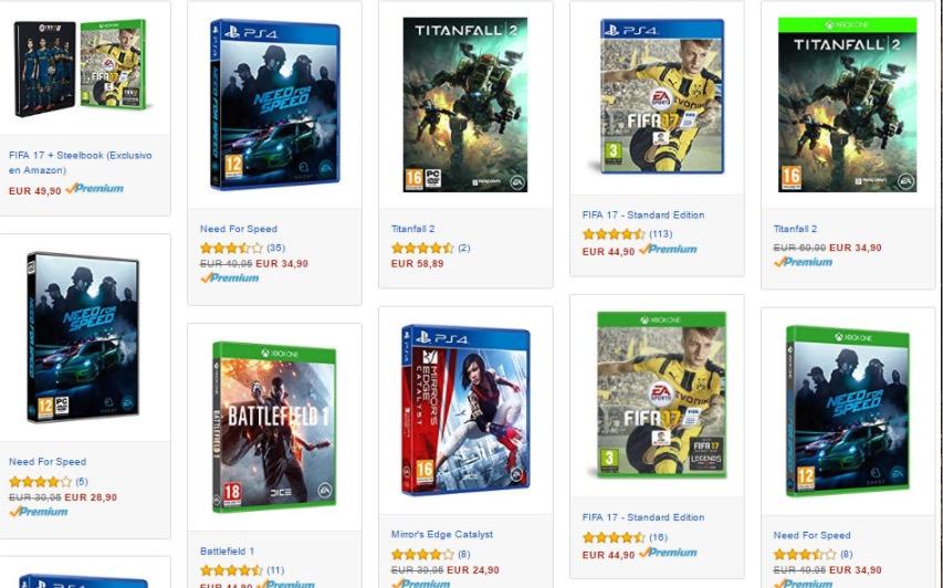BLACK AMAZON! FIFA 17, Battlefield 1, Titanfall 2 y otros títulos desde 30 Euros (Oferta Cupon Descuento)