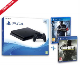 BLACK FRIDAY! NUEVA PS4 Slim 500GB Uncharted 4 + COD Infinity Warfare por 266 Euros (Oferta Cupon Descuento)