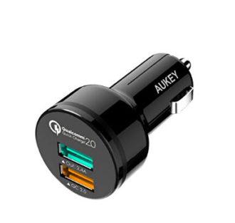 CHOLLO AMAZON! Cargador de coche con 2 USB y QuickCharge por 6,98 Euros (Oferta Cupon Descuento)