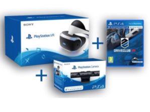 BLACK EBAY! Pack Playstation VR + Camara + DriveClub VR PS4 por 449 Euros