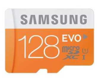 Solo 100 unidades! Tarjeta SAMSUNG EVO de 128GB por 33€ con 2 años de garantia en España (Oferta Cupon Descuento)