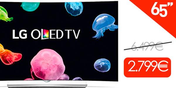 """BLACK AMAZON! Bajada desde los 6500 Euros esta LG OLED 65"""" 4K UHD 3D Smart TV por 2799 euros (Oferta Cupon Descuento)"""