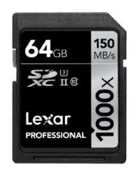 OFERTAFLASH! Tarjeta de memoria LEXAR 1000x SDXC de 64 GB por 26,90€