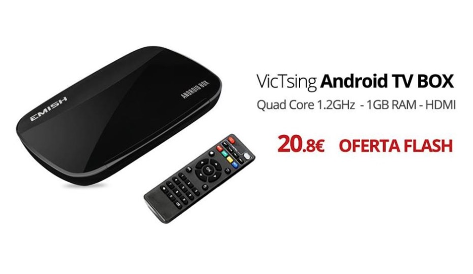 CHOLLO AMAZON! Android TV Quadcore Kodi por 20 Euros (Oferta Cupon Descuento)
