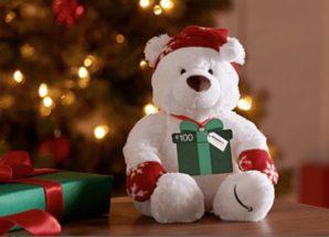 Oso Navidad AMAZON – Tarjeta 100 Euros para regalar