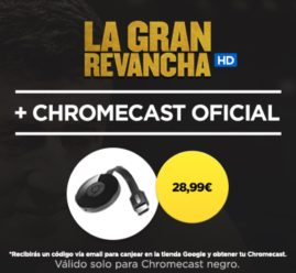 CHOLLAZO! Google Chromecast 2+ 3 meses Wuaki TV por 32,99€