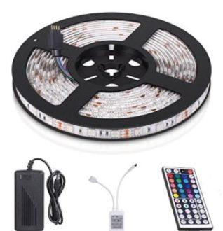 Chollo Amazon! Tira LED 5m con mando a distancia por 7,99€ (Oferta Cupon Descuento)