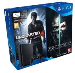 OFERTA! PlayStation 4 Slim 1TB + Uncharted 4 + Dishonored 2 por 309.99€