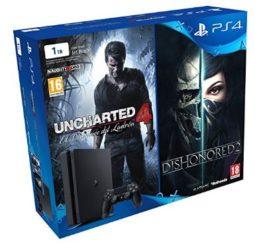 OFERTA! PlayStation 4 Slim 1TB + Uncharted 4 + Dishonored 2 por 309.99€