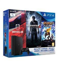 OFERTA AMAZON! PlayStation 4 Slim 1TB + Uncharted 4 + DriveClub + Ratchet & Clank por 329.90€