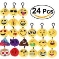 OFERTA! Pack de 24 llaveros emoji por 10.39€