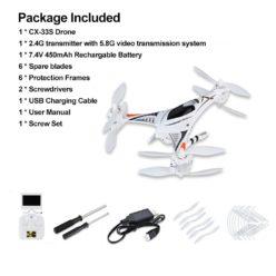Drone Amazon! CXHOBBY CX-33S con Camara FPV por 45,99€