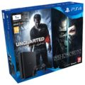 PlayStation 4 Slim 1TB + 2 dualshoks + Uncharted 4 + Dishonored 2 por 329€