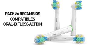 20 recambios compatibles para cepillo eléctrico Oral-B por sólo 13,90€