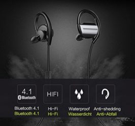 Chollo Amazon! Auriculares Bluetooth 4.1 titanio 9,99€