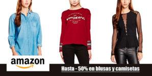 -50% de descuento en blusas y camisetas para mujer en Amazon!