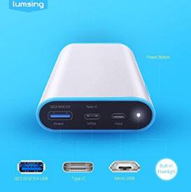 Chollaco Amazon! Lumsing Batería 10050mAh Quick Charge 3.0 por 10€ (Oferta Cupon Descuento)