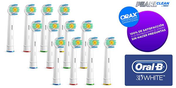12 cabezales Oral-B 3D White compatibles por 9,99€ (Oferta Cupon Descuento)