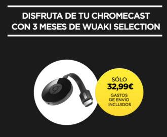 Vuelve el Chollo! Chromecast 2 + 3 meses Wuaki TV por 32€ (Oferta Cupon Descuento)