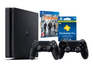 PS4 Slim + 2 mandos + PSN + The Division 249€