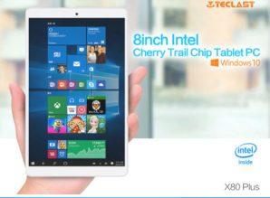 Chollaco! Tablet Teclast X80 Plus Windows 10 + Android por 72€