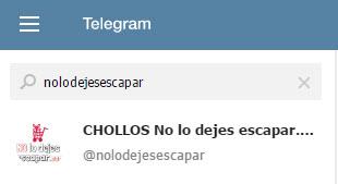 chollos telegram nolodejesescapar