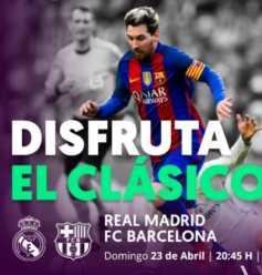Ver clasico Real Madrid Barcelona gratis!