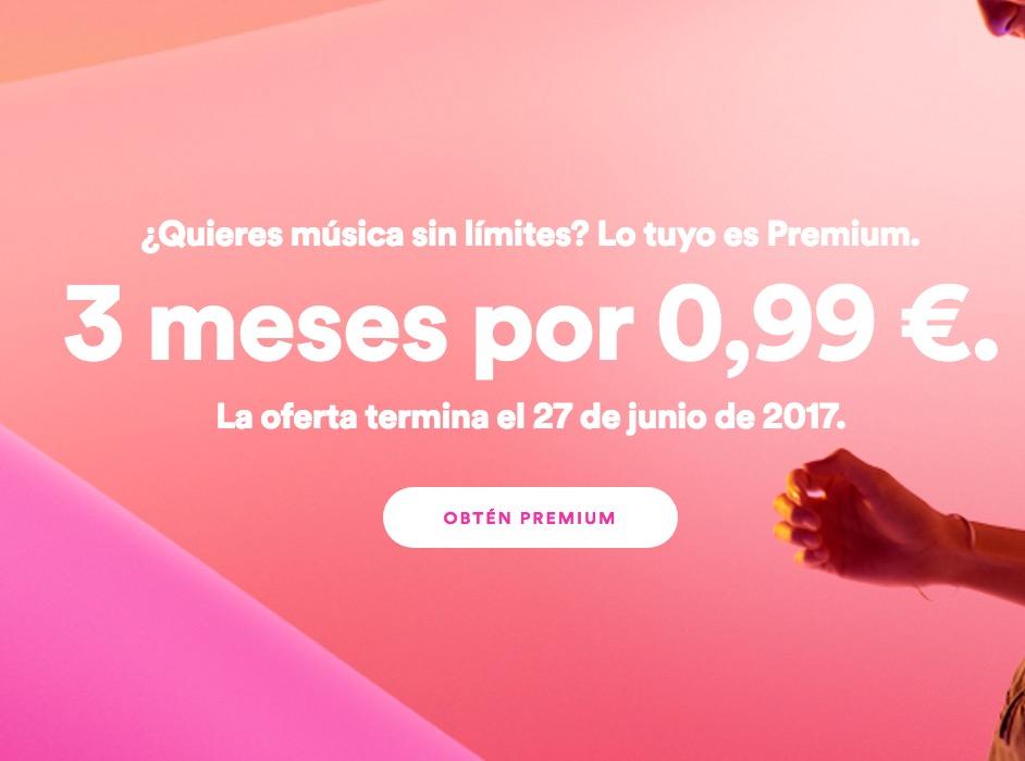 3 Meses de Spotify por 0,99€ (Oferta Cupon Descuento)
