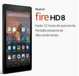 Chollo Amazon! Tablet Fire HD 8 por 64€