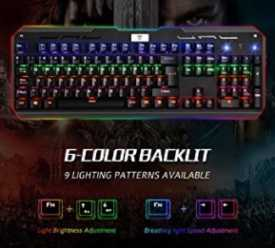 Chollo Amazon! Teclado Mecanico Victsing LED gamming en Español por solo 27,99€
