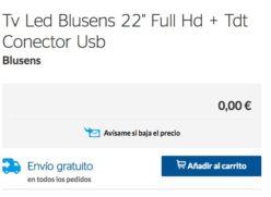 Precio Loco! Tv Led Bluesens 22″ Full HD + TDT por 0€