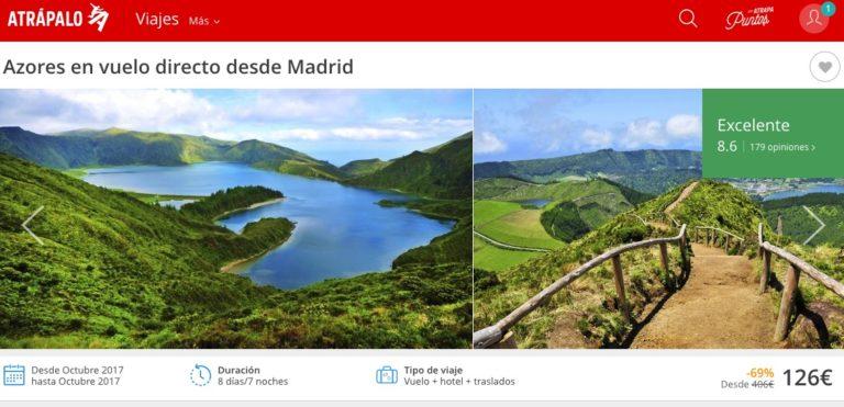 Vuelve el chollo! Viaje 7 Noches Islas Azores Con vuelo y Hotel por solo 126€