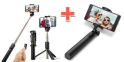 Chollo Amazon! 2 Palos selfie bluetooth = 1 normal + 1 con tripode por 14,98€