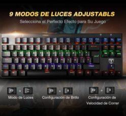 Chollo Amazon! Teclado Mecanico Victsing LED gamming en Español por solo 23,99€