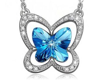 Collar mariposa con SWAROVSKI
