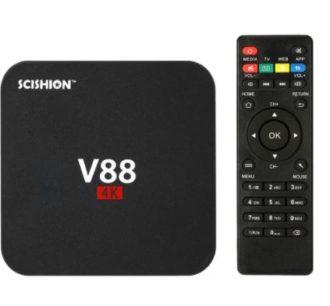 Chollo Desde España! Android TV Scishion v88 4K de 2/8GB por 22€ (Oferta Cupon Descuento)