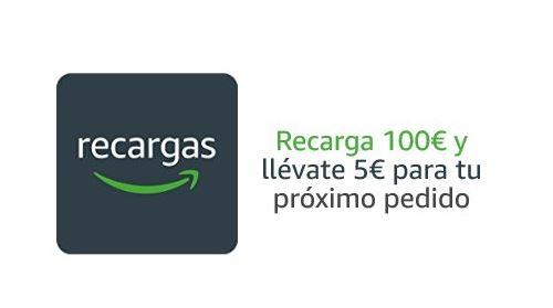 5€ GRATIS en AMAZON al recargar 100€ (Oferta Cupon Descuento)