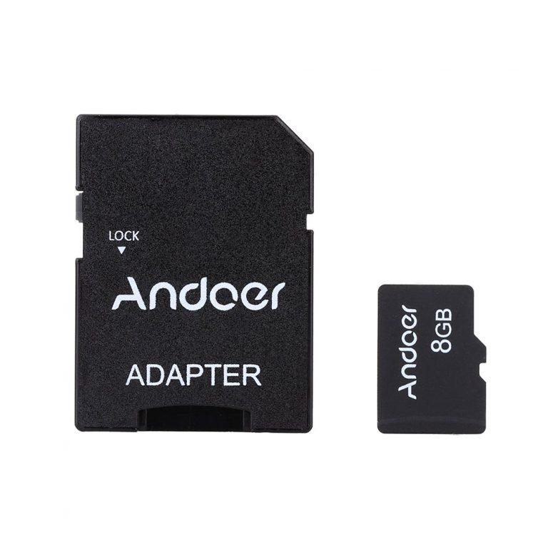 BAJADA DE PRECIO AMAZON! Micro SD 8GB Andoer Clase 10 a 9€