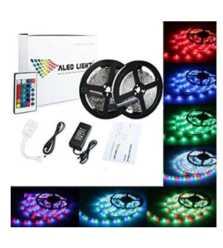 Chollo Amazon! 2 x Tiras LED 5m con mando a distancia por 18€