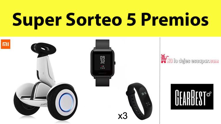 Super Sorteo Xiaomi Ninebot Plus + Amazfit Bip + 3 x Xiaomi Mi band 2 (Oferta Cupon Descuento)