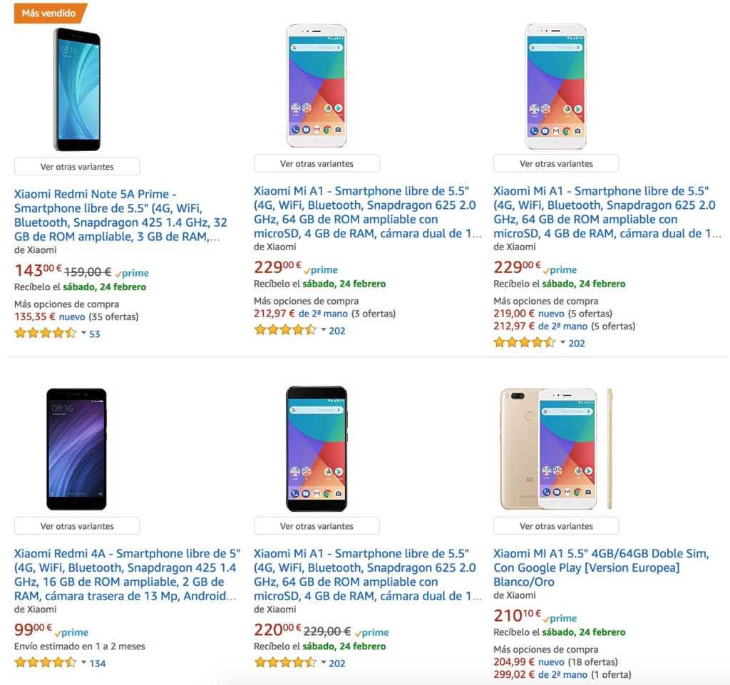 Xiaomi desde AMAZON