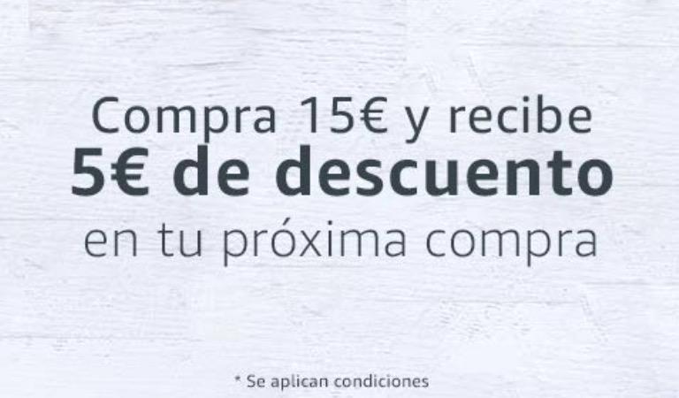 Promocion de Amazon Pantry: 5€ de descuento por una compra de 15€